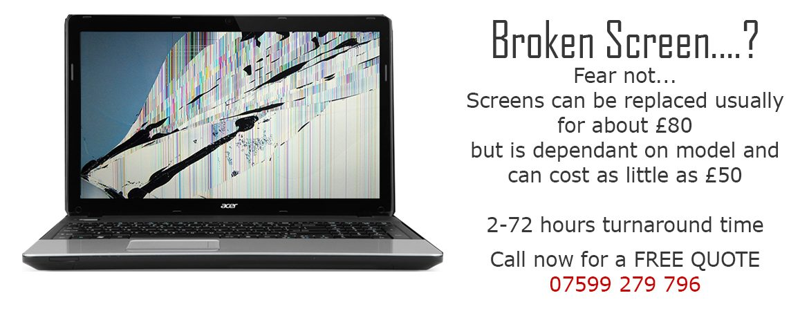 laptop screen replacement chichester